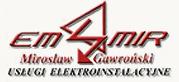 Logo Em-mir usługi elektroinstalacyjne i usługi ogólnobudowlane